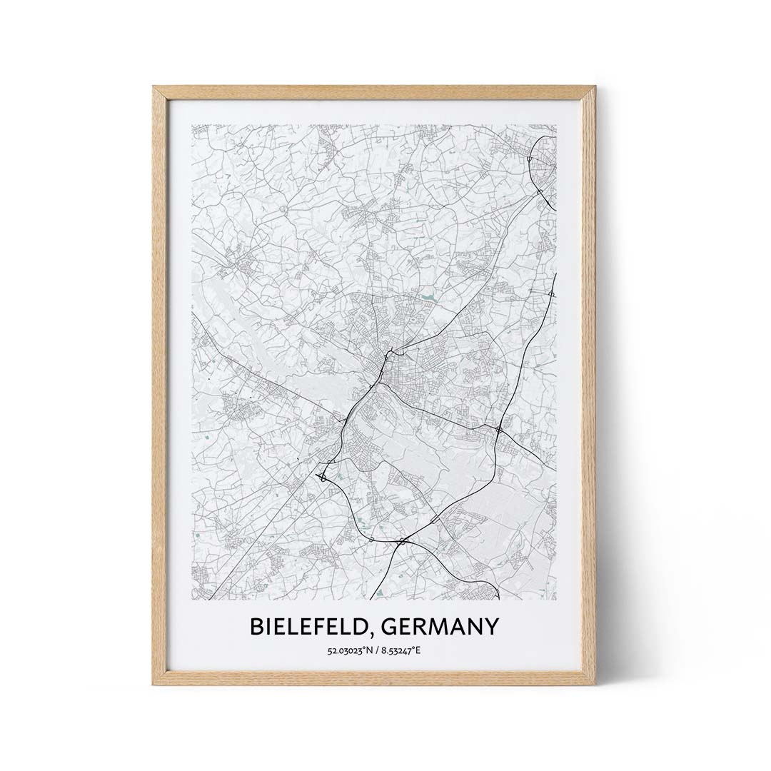 Bielfeld city map poster