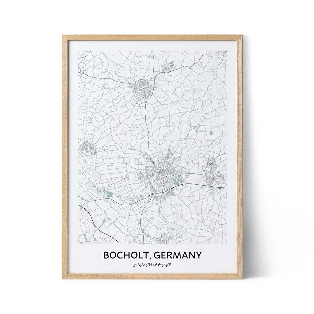 Bocholt city map poster