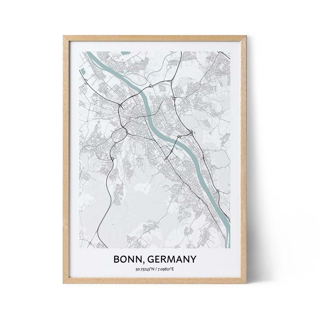 Bonn city map poster