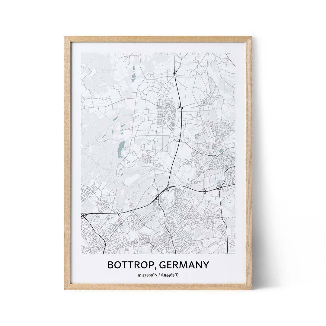 Bottrop city map poster