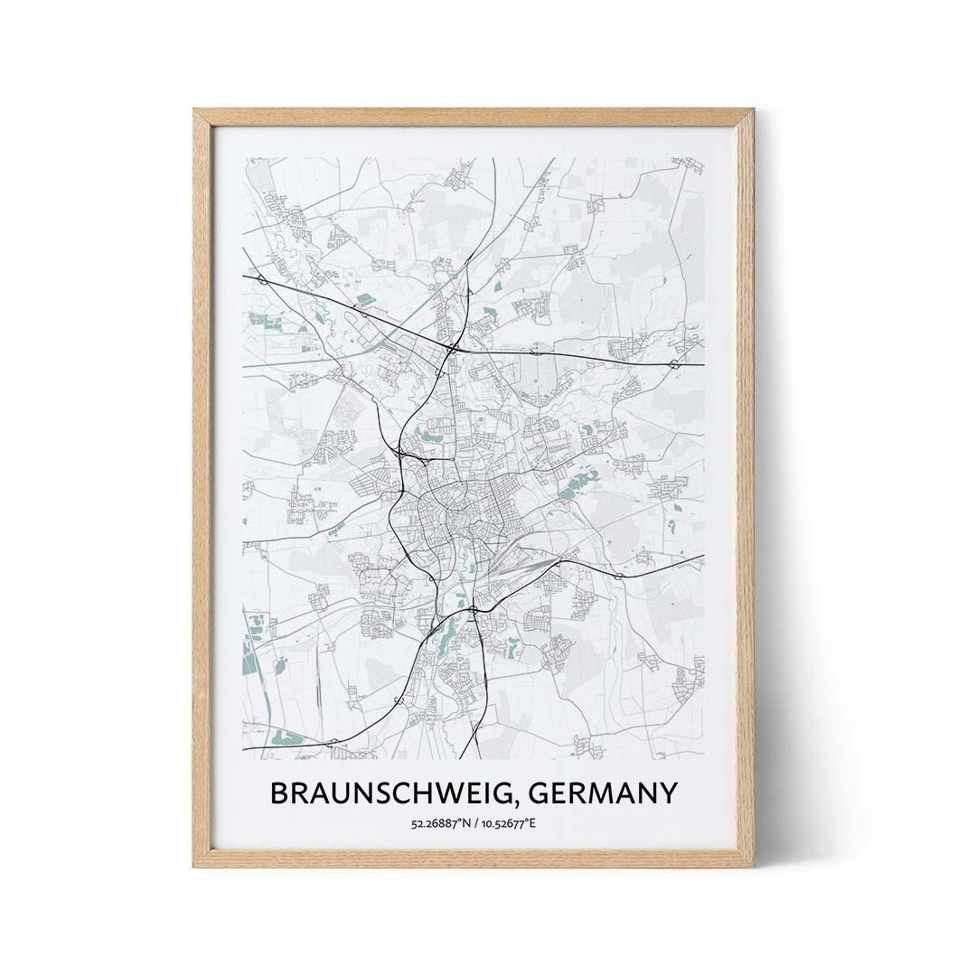 Braunschweig city map poster