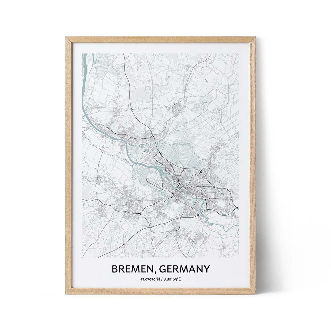 Bremen city map poster