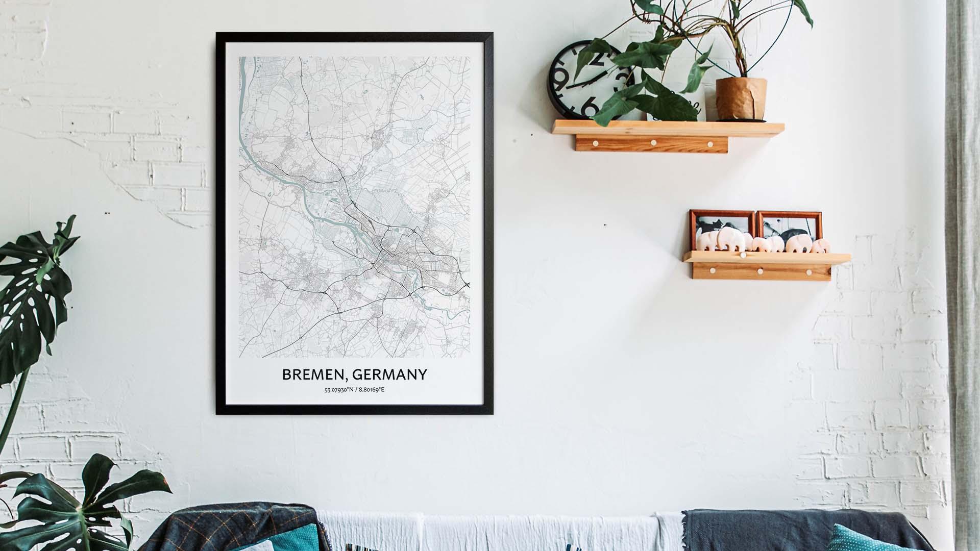 Bremen map art