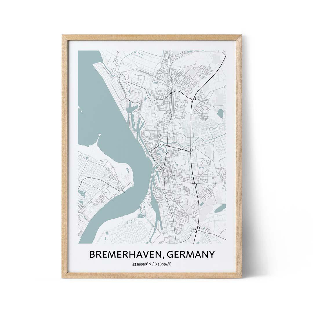 Bremerhaven city map poster