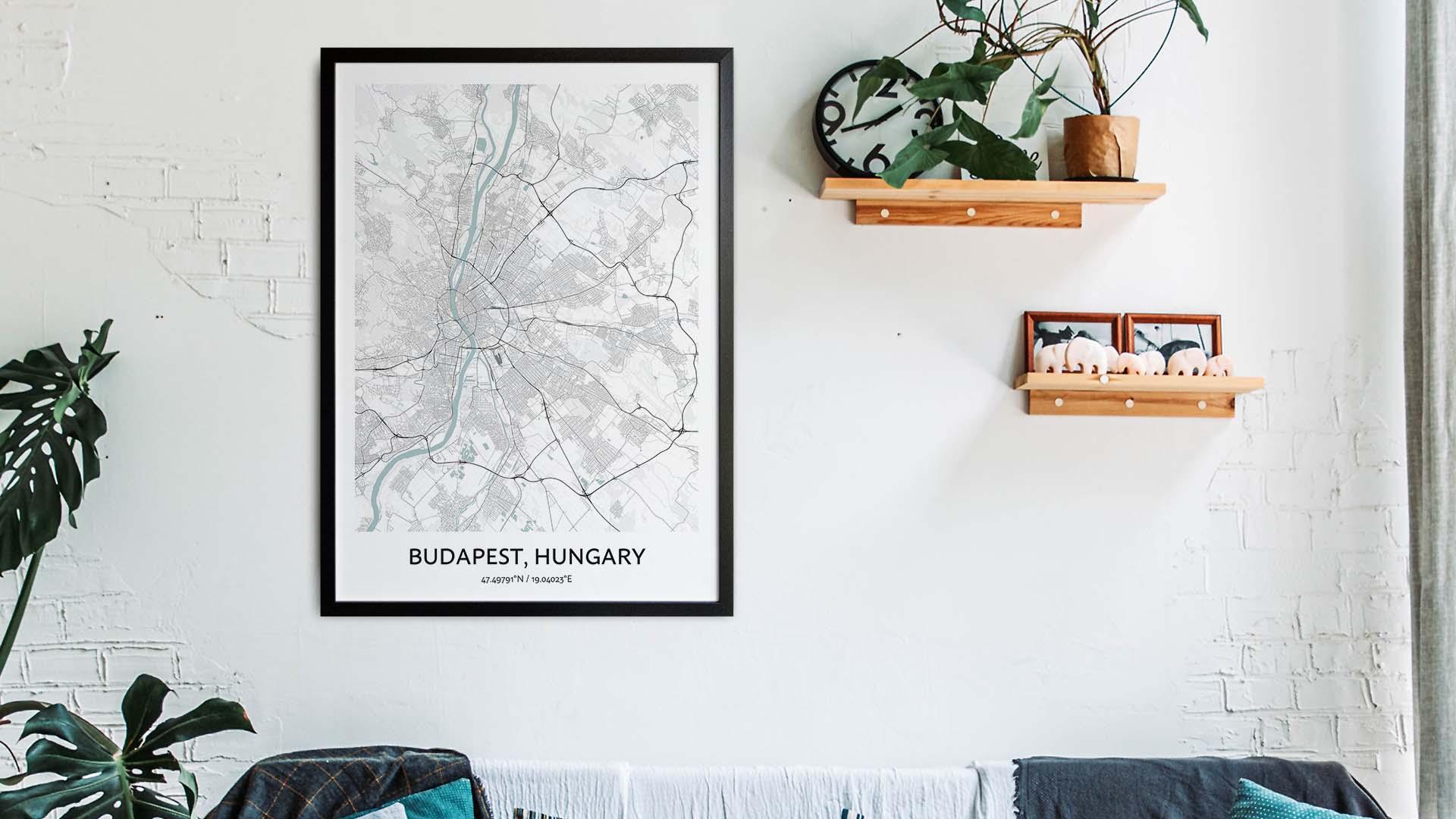 Budapest map art