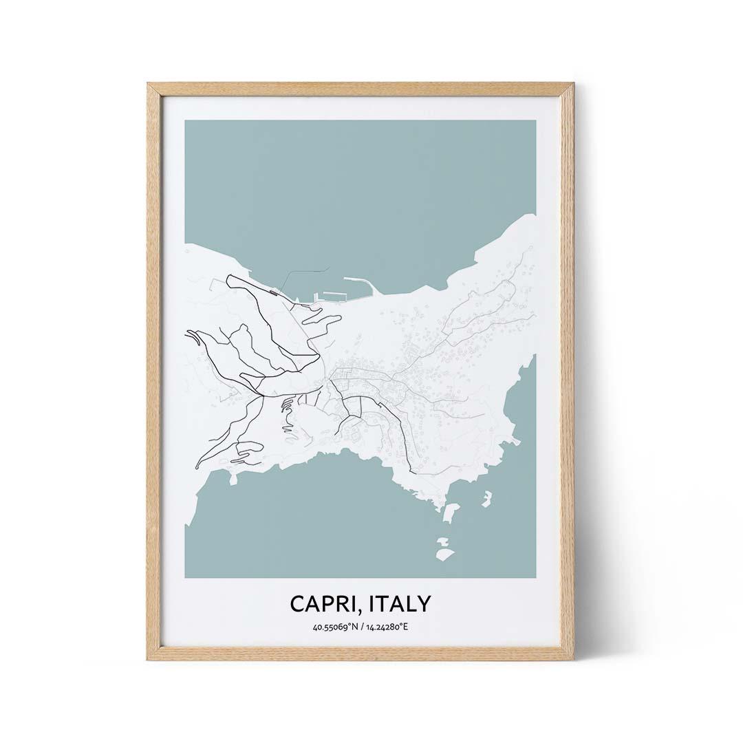 Capri city map poster
