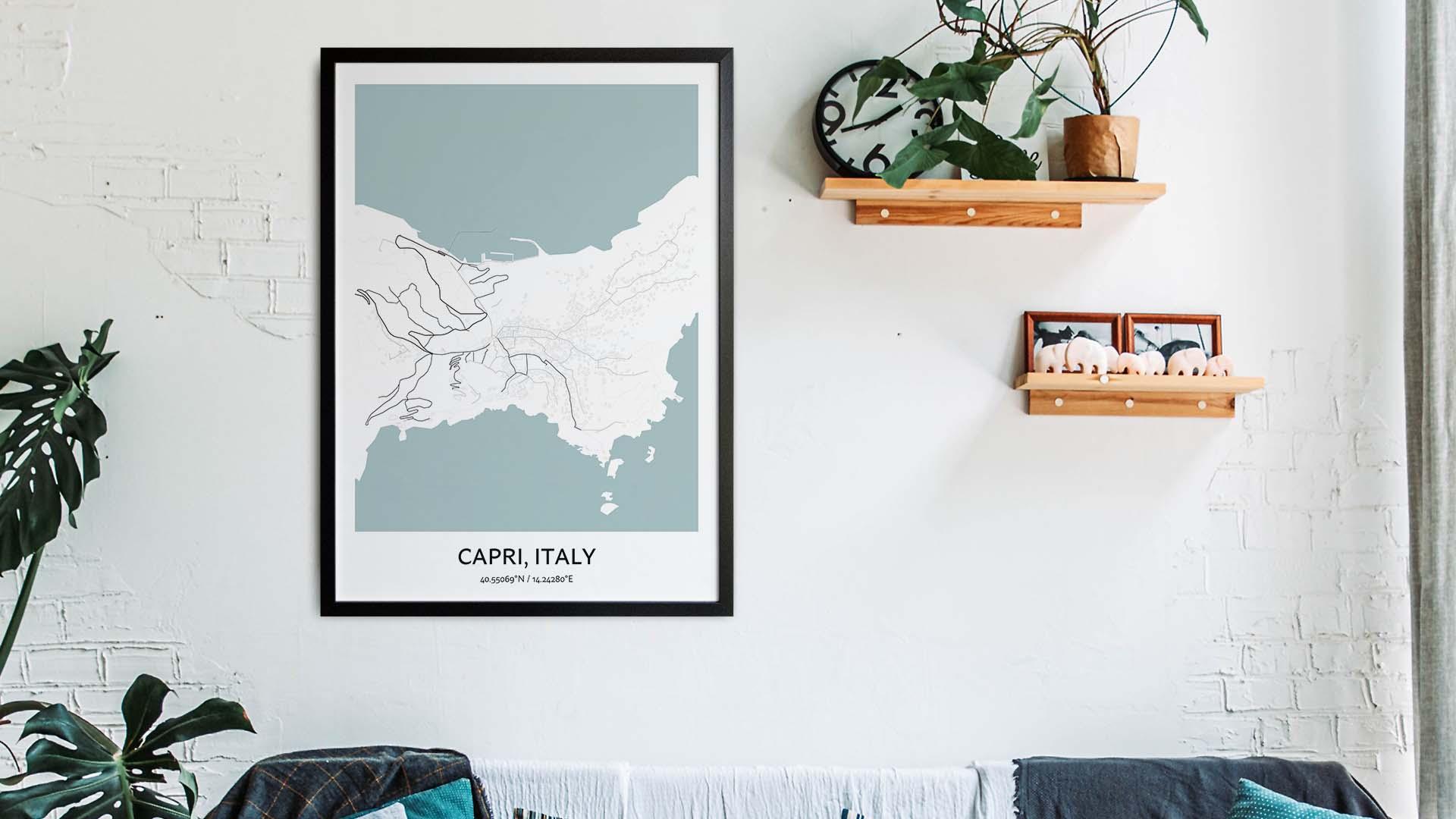 Capri map art
