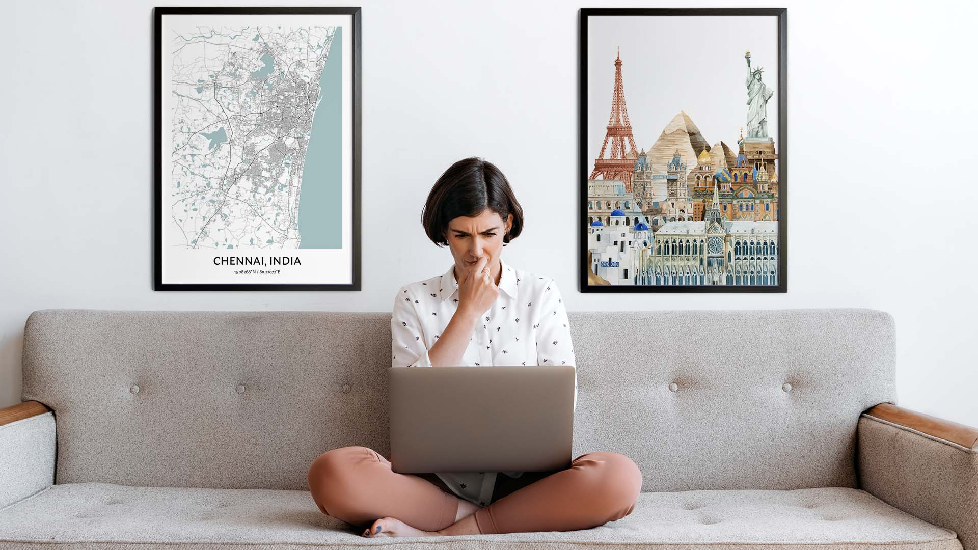Chennai city map art