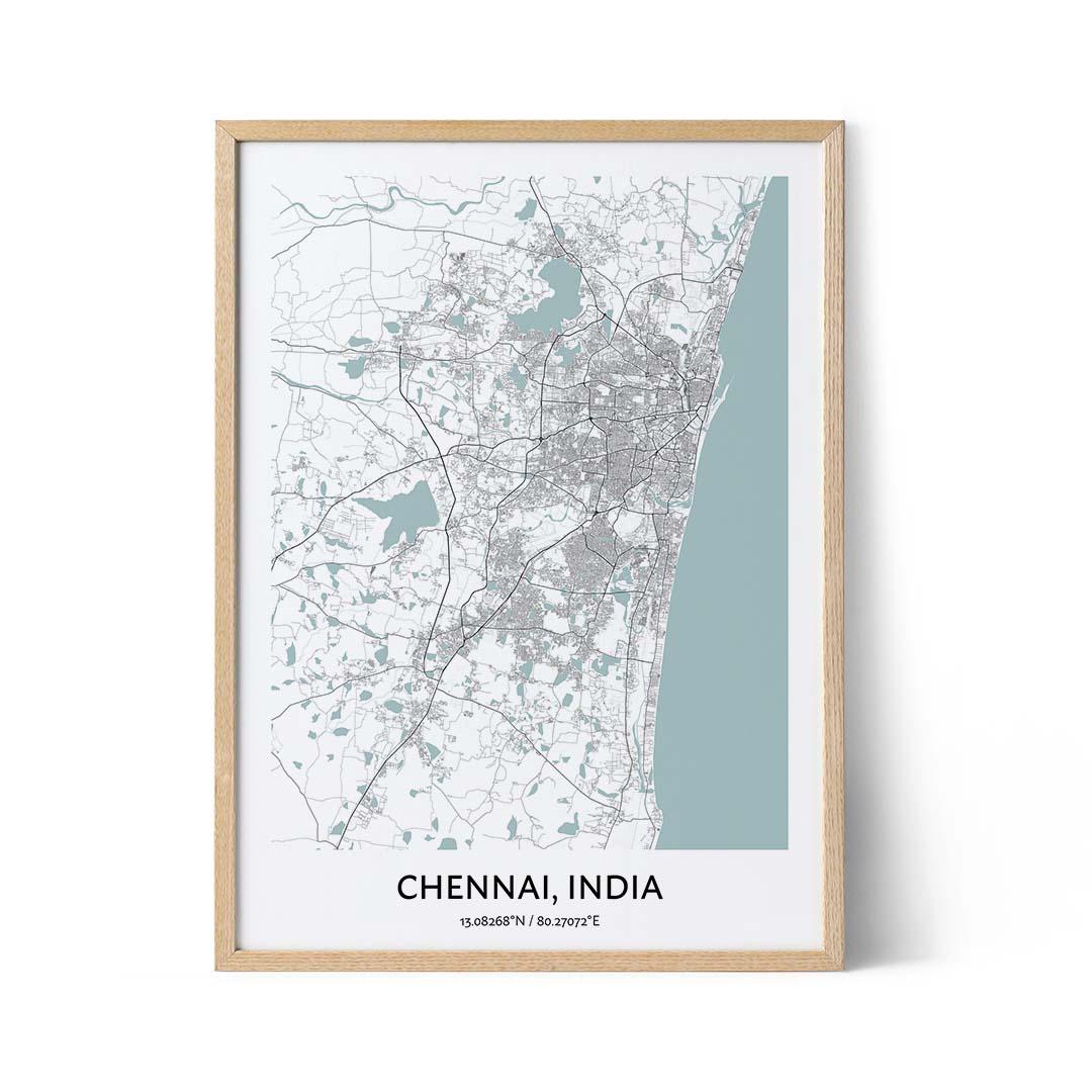 Chennai city map poster