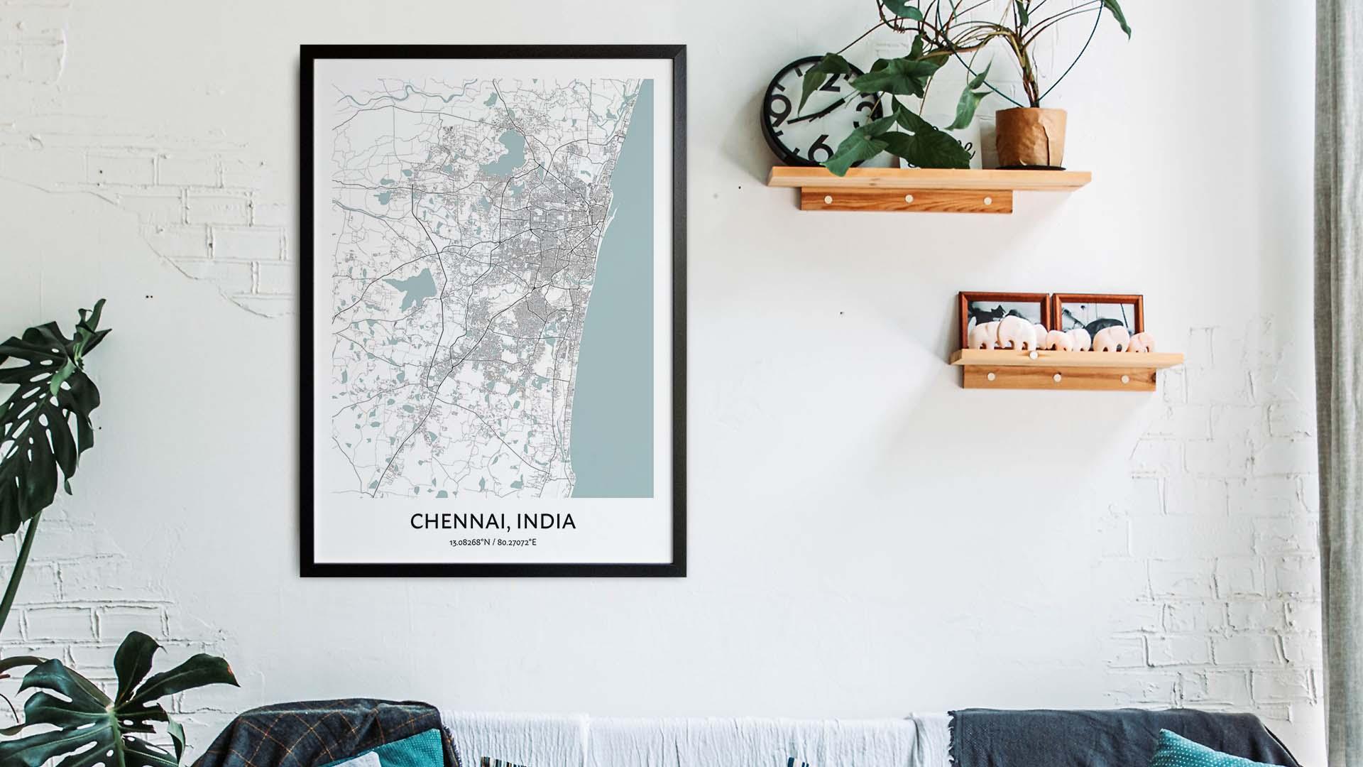 Chennai map art
