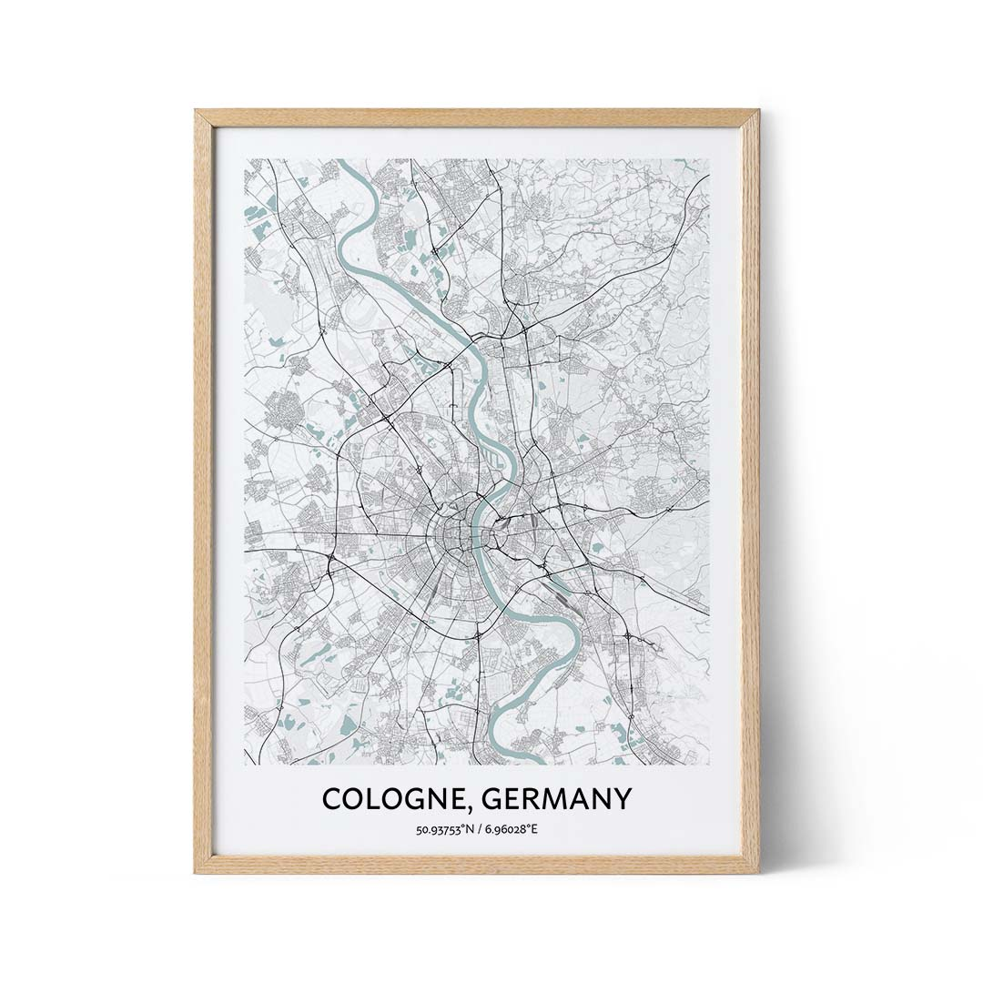 Cologne city map poster