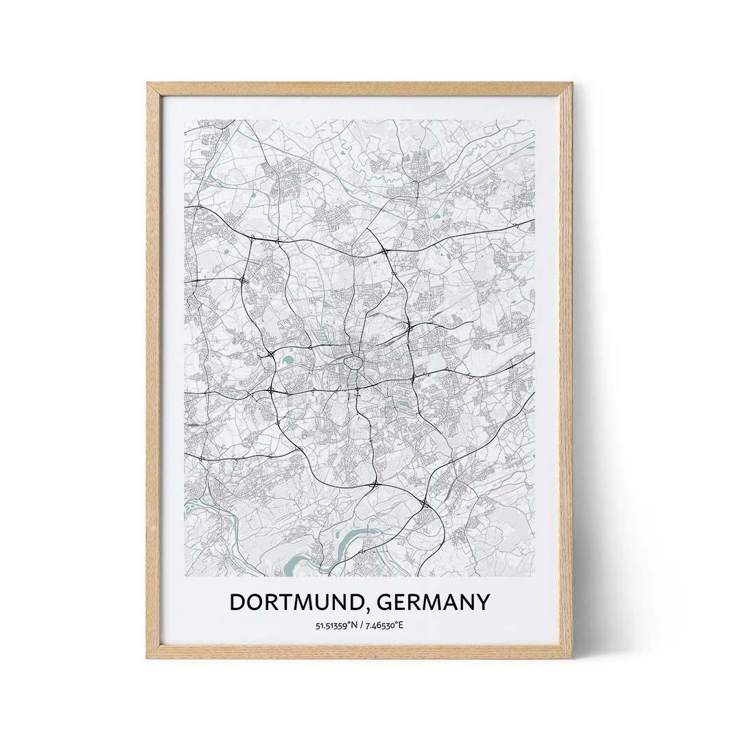 Dortmund city map poster