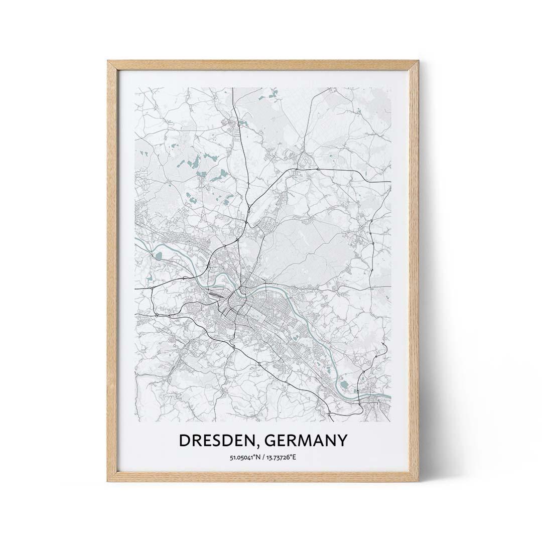 Dresden city map poster