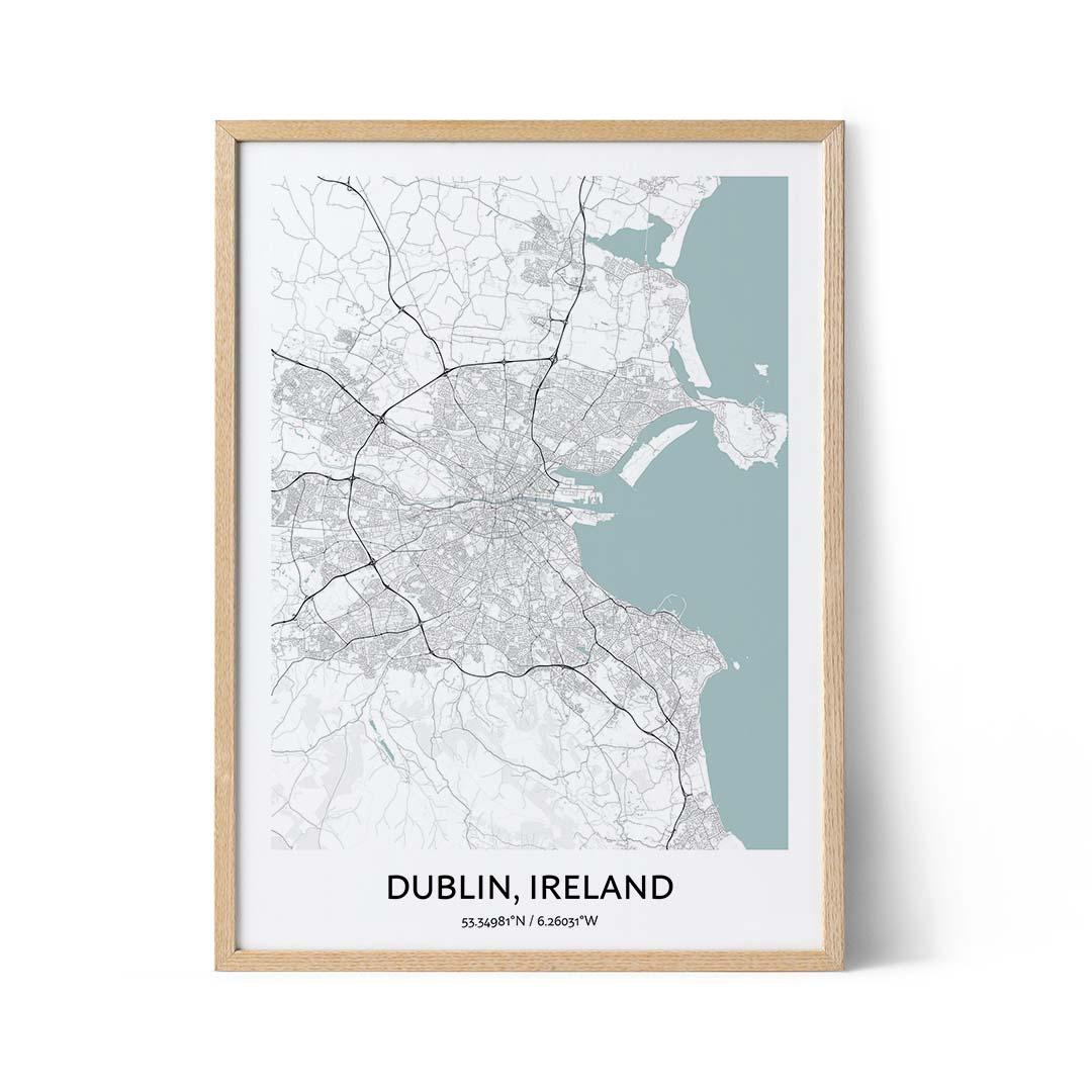 Dublin city map poster