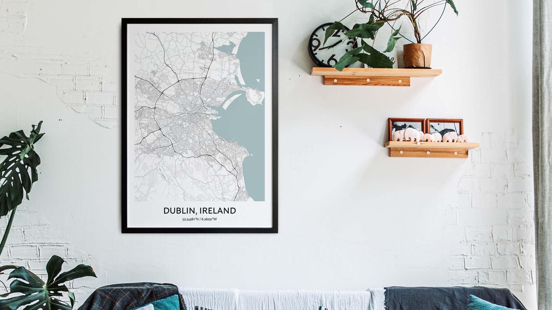 Dublin map art