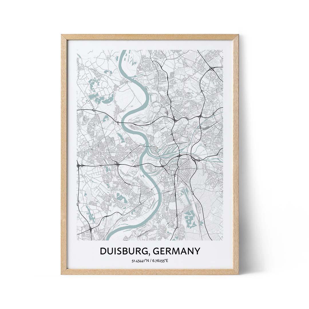 Duisburg city map poster