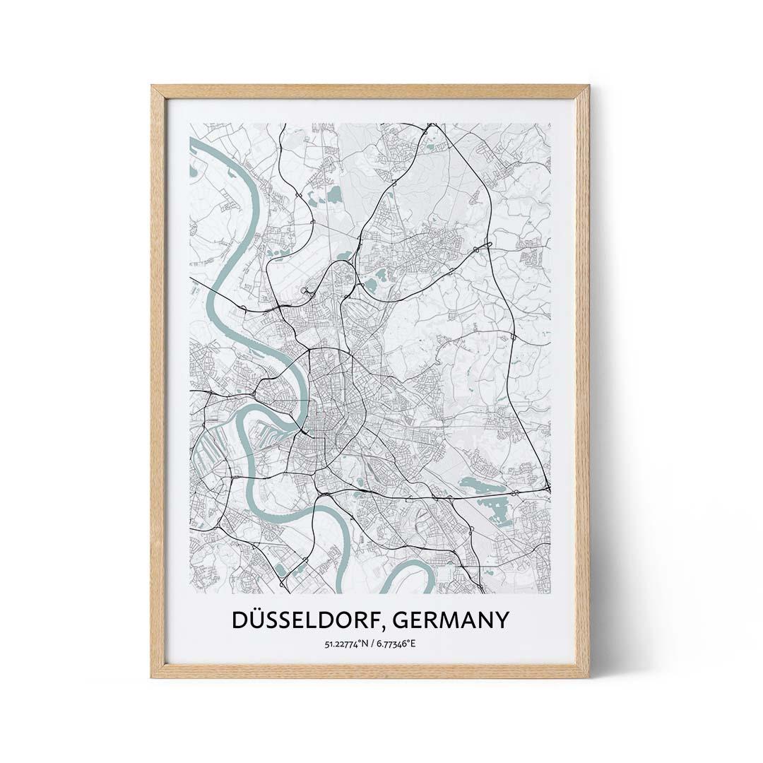 Dusseldorf city map poster