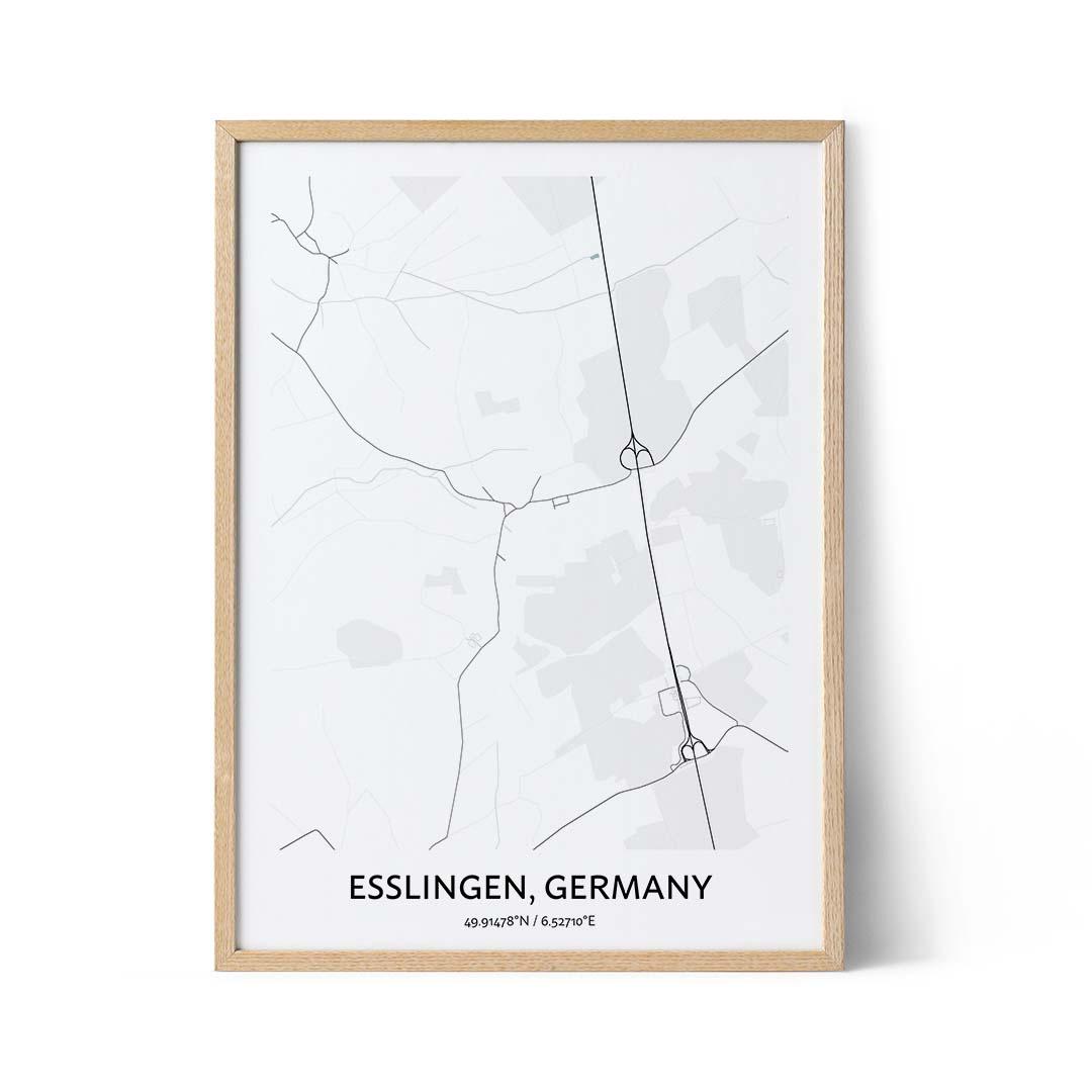 Esslingen city map poster