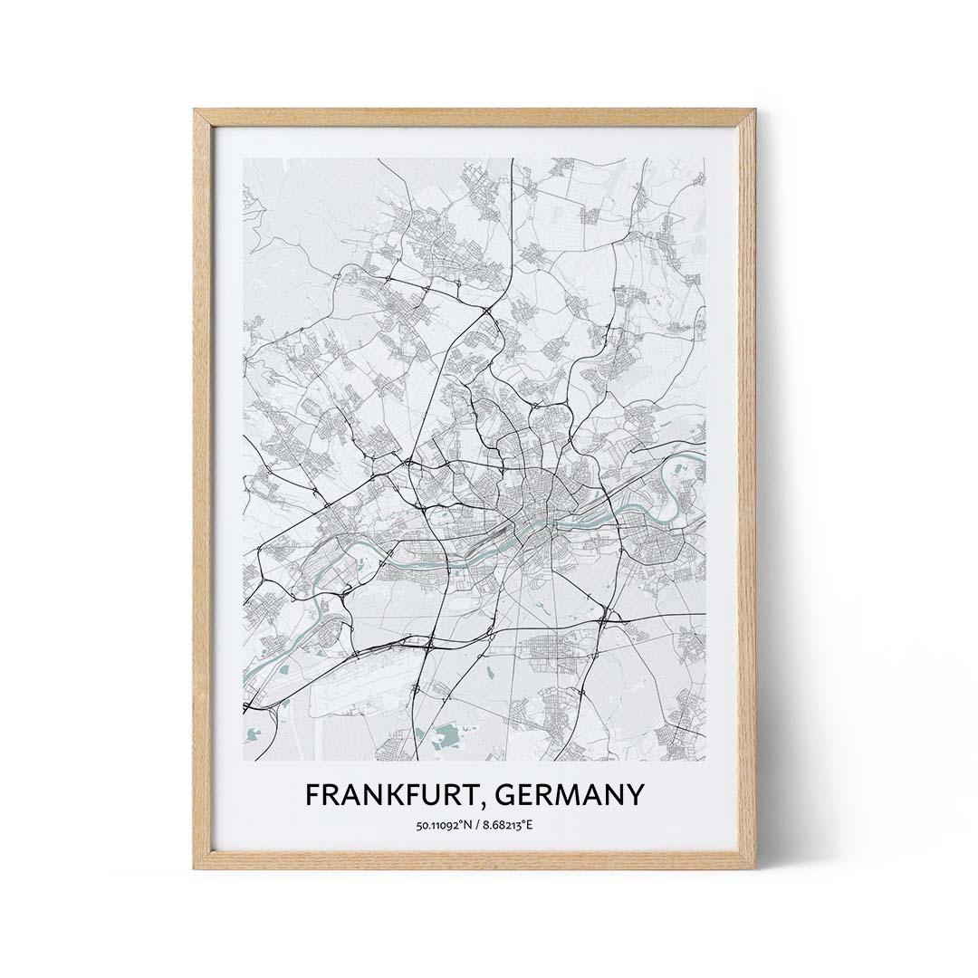Frankfurt city map poster