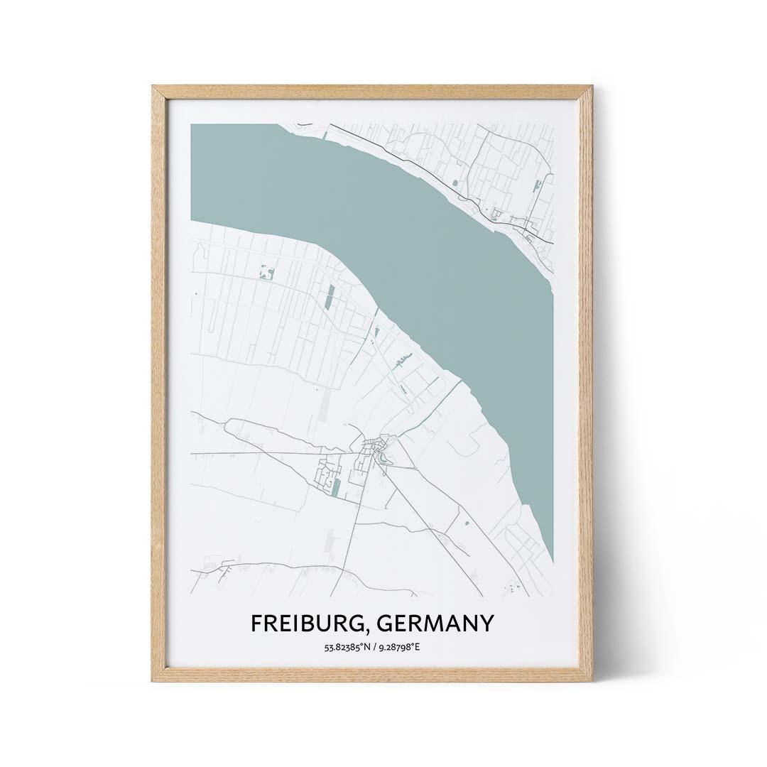 Freiburg city map poster