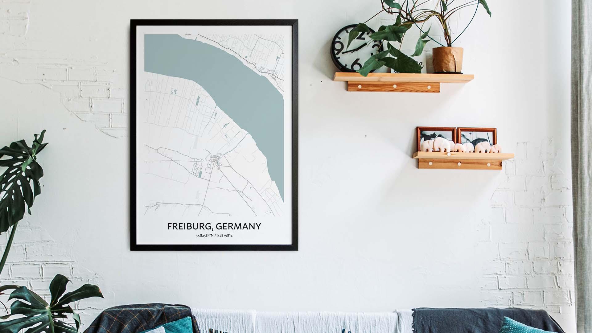 Freiburg map art