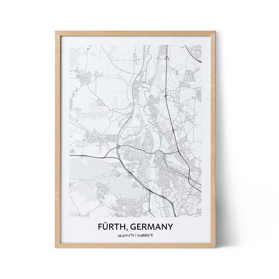 Furth city map poster