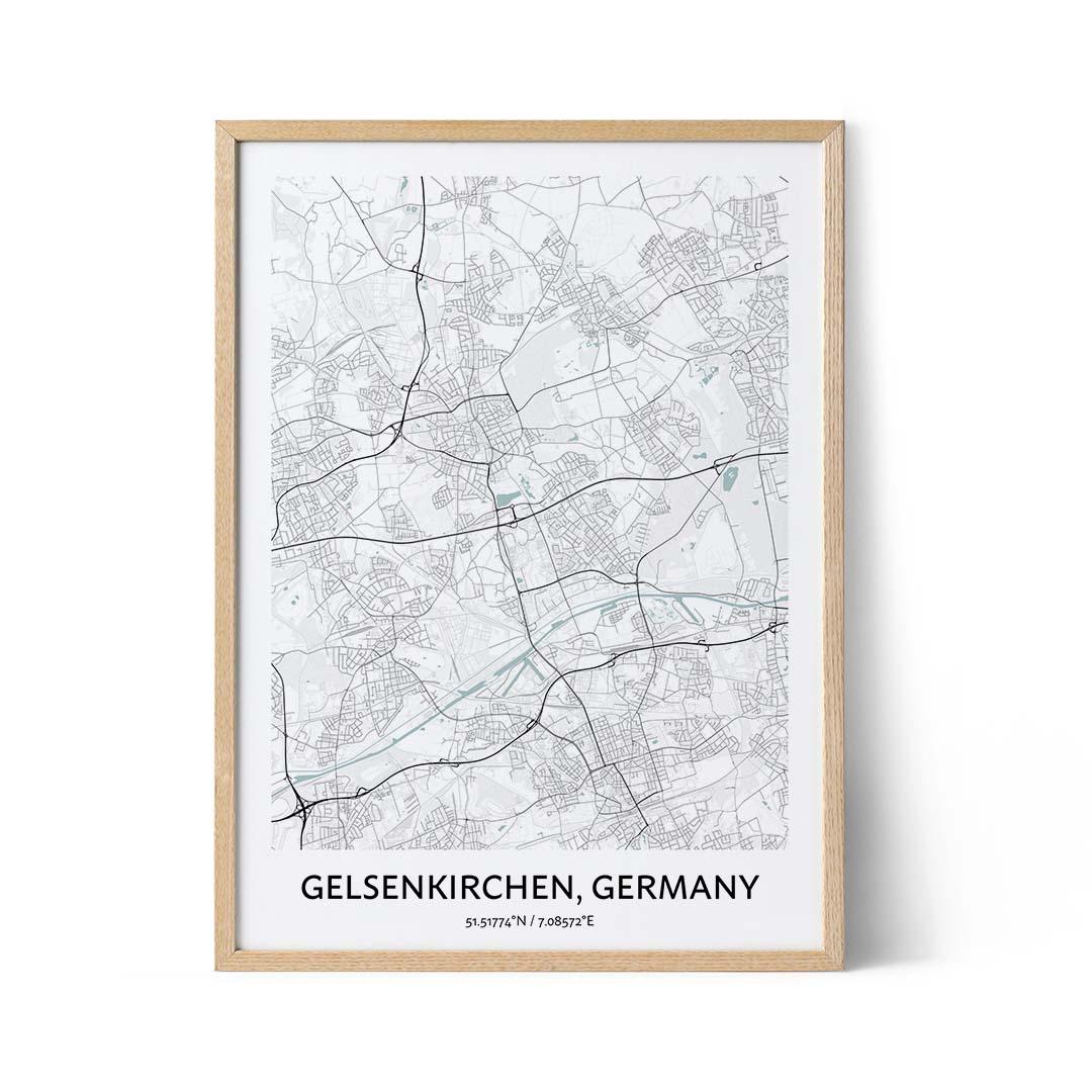 Gelsenkirchen city map poster