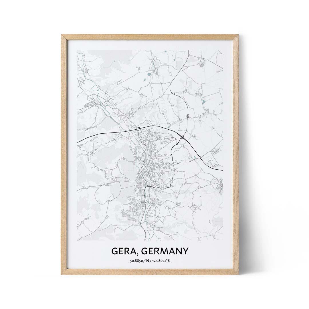 Gera city map poster