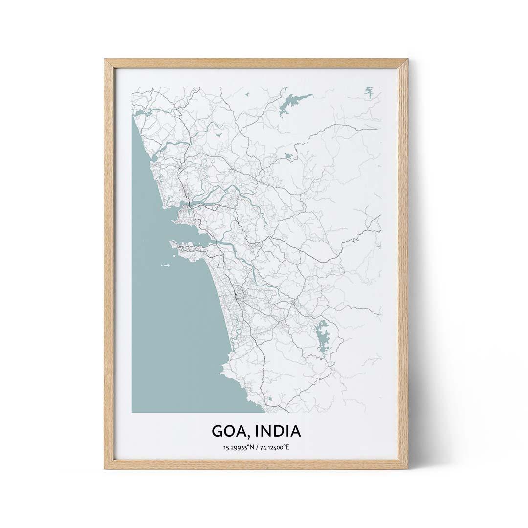 Goa city map poster