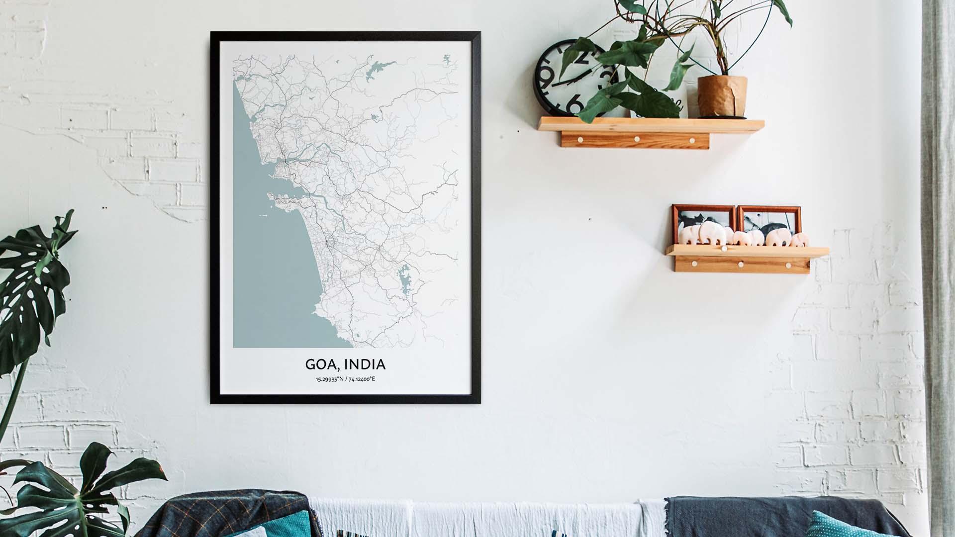 Goa map art