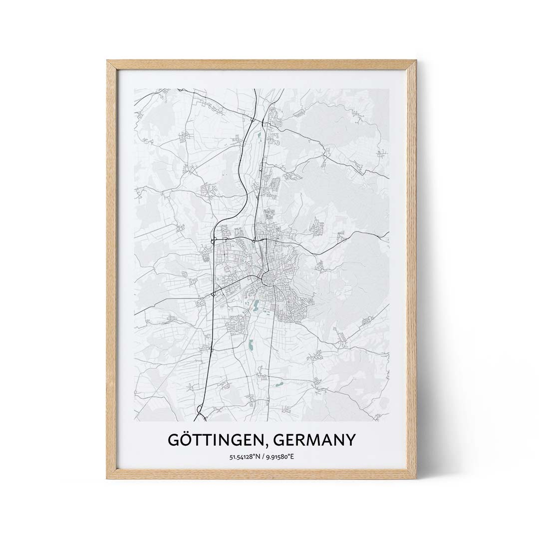 Gottingen city map poster
