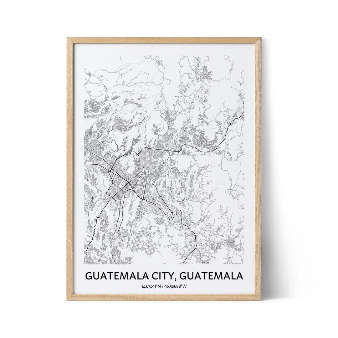 Guatemala City city map poster
