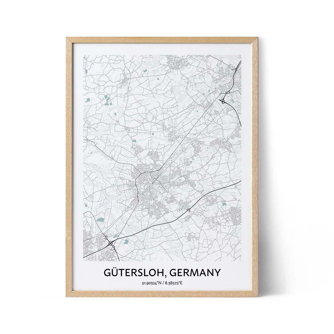Gutersloh city map poster