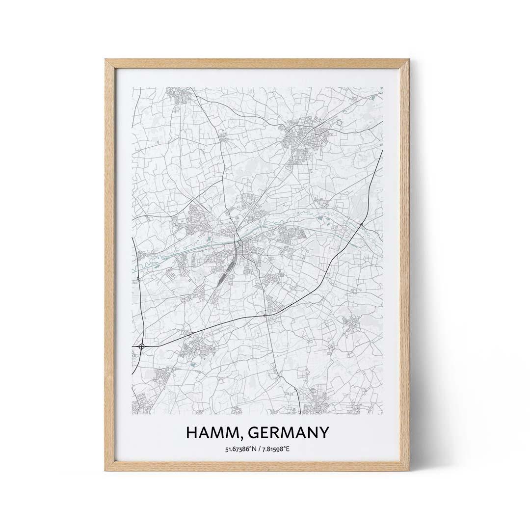 Hamm city map poster