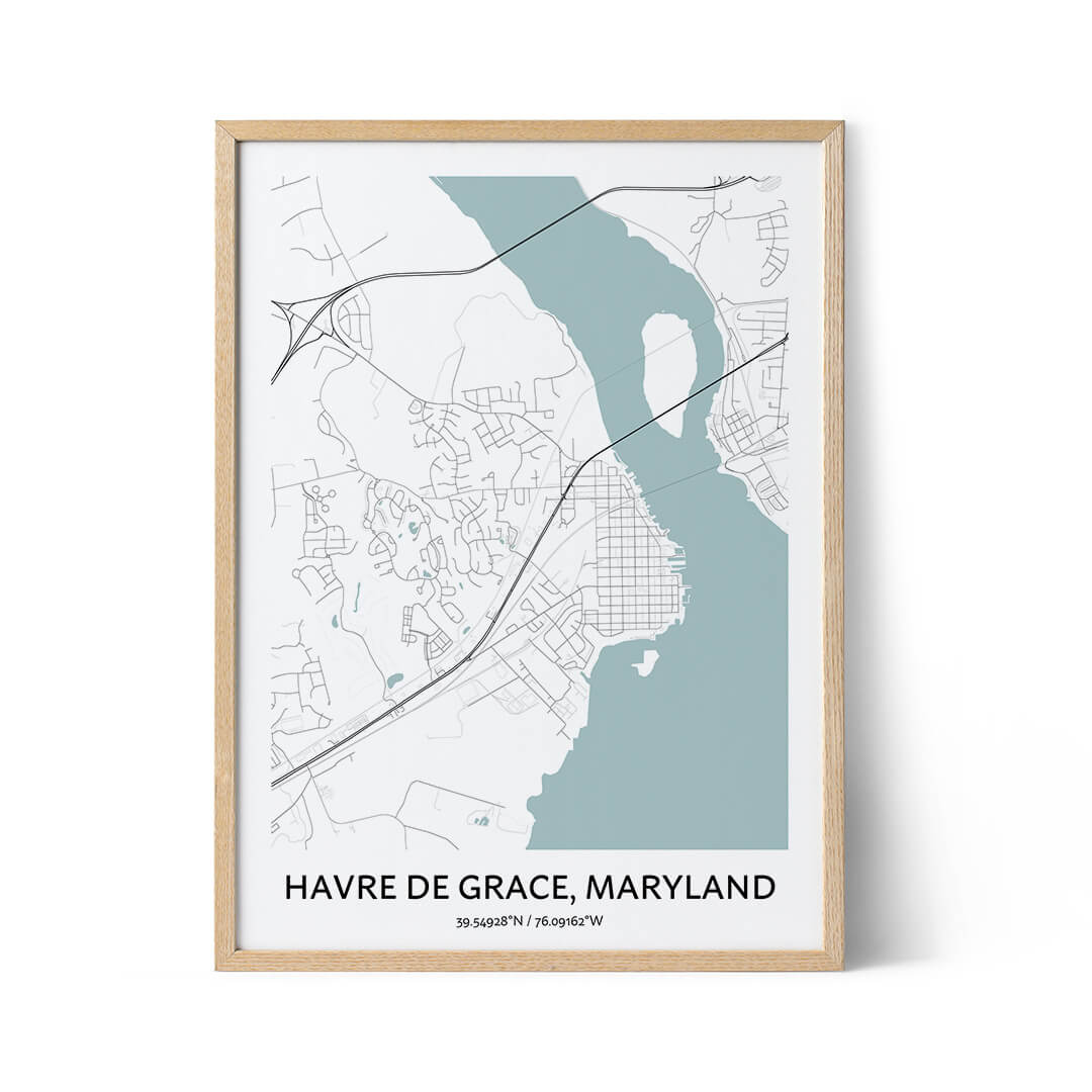 Havre De Grace city map poster