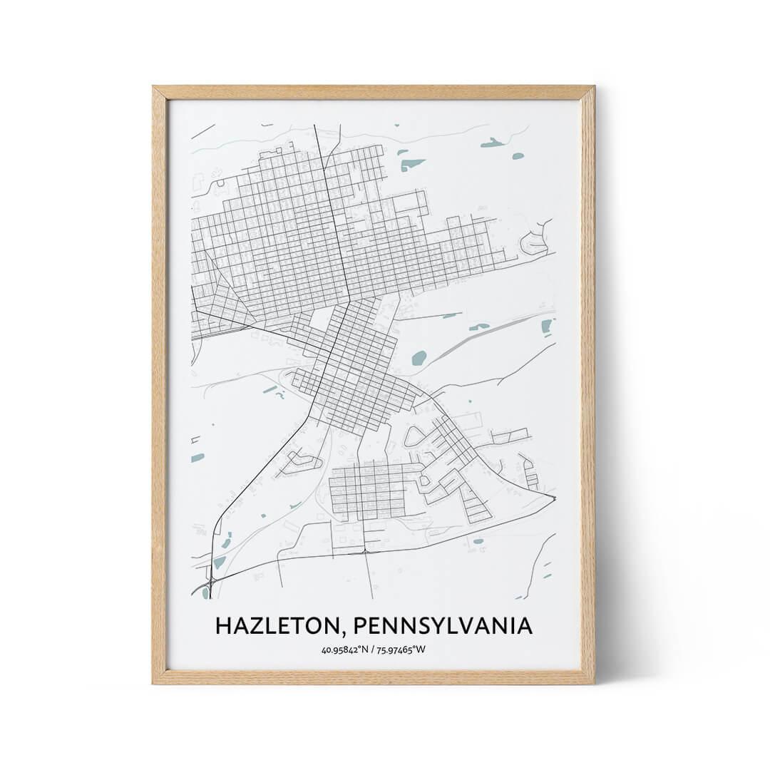 Hazleton city map poster