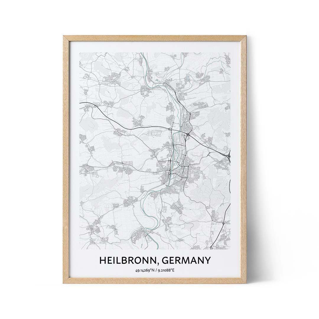 Heilbronn city map poster