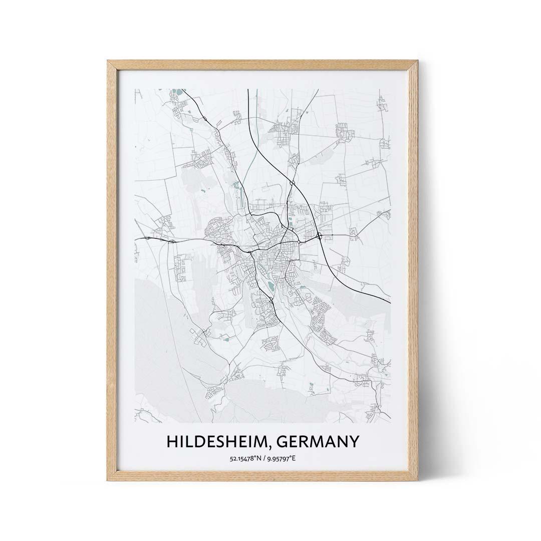 Hildesheim city map poster
