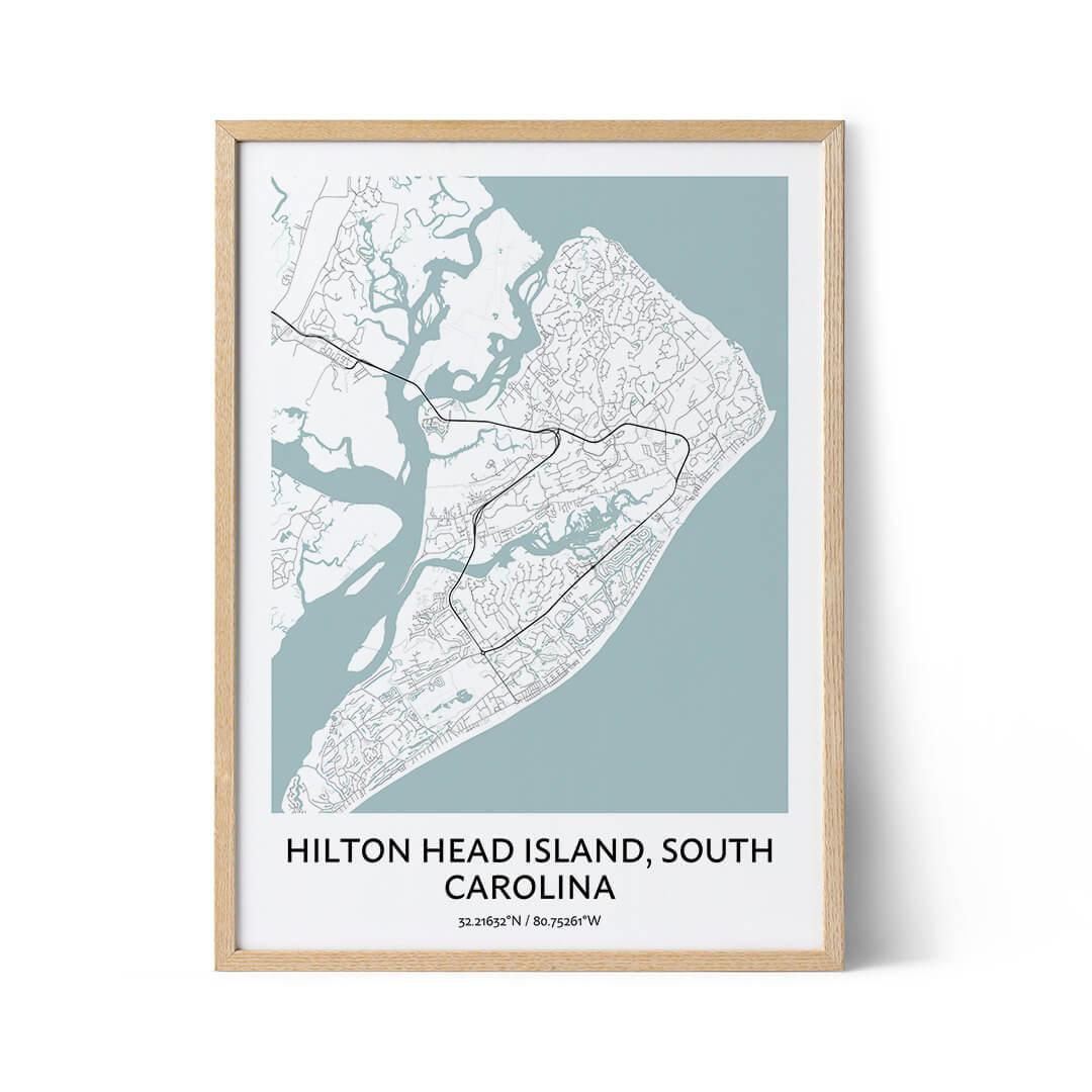 Hilton Head Island city map poster