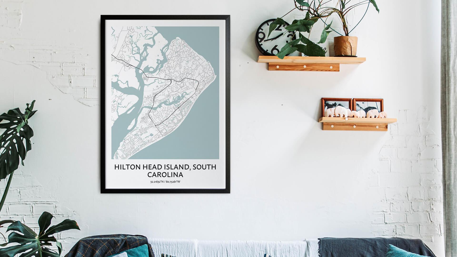 Hilton Head Island map art