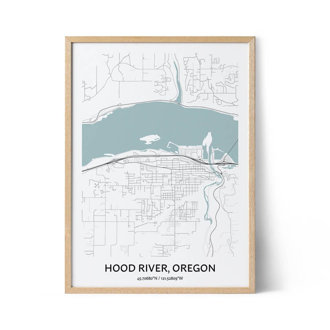Hood River city map poster