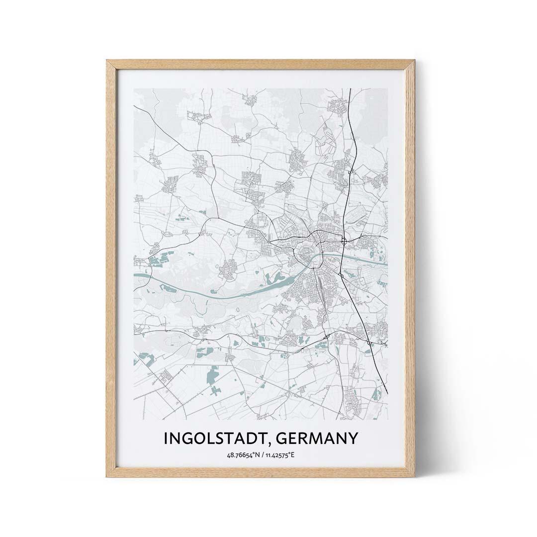 Ingolstadt city map poster