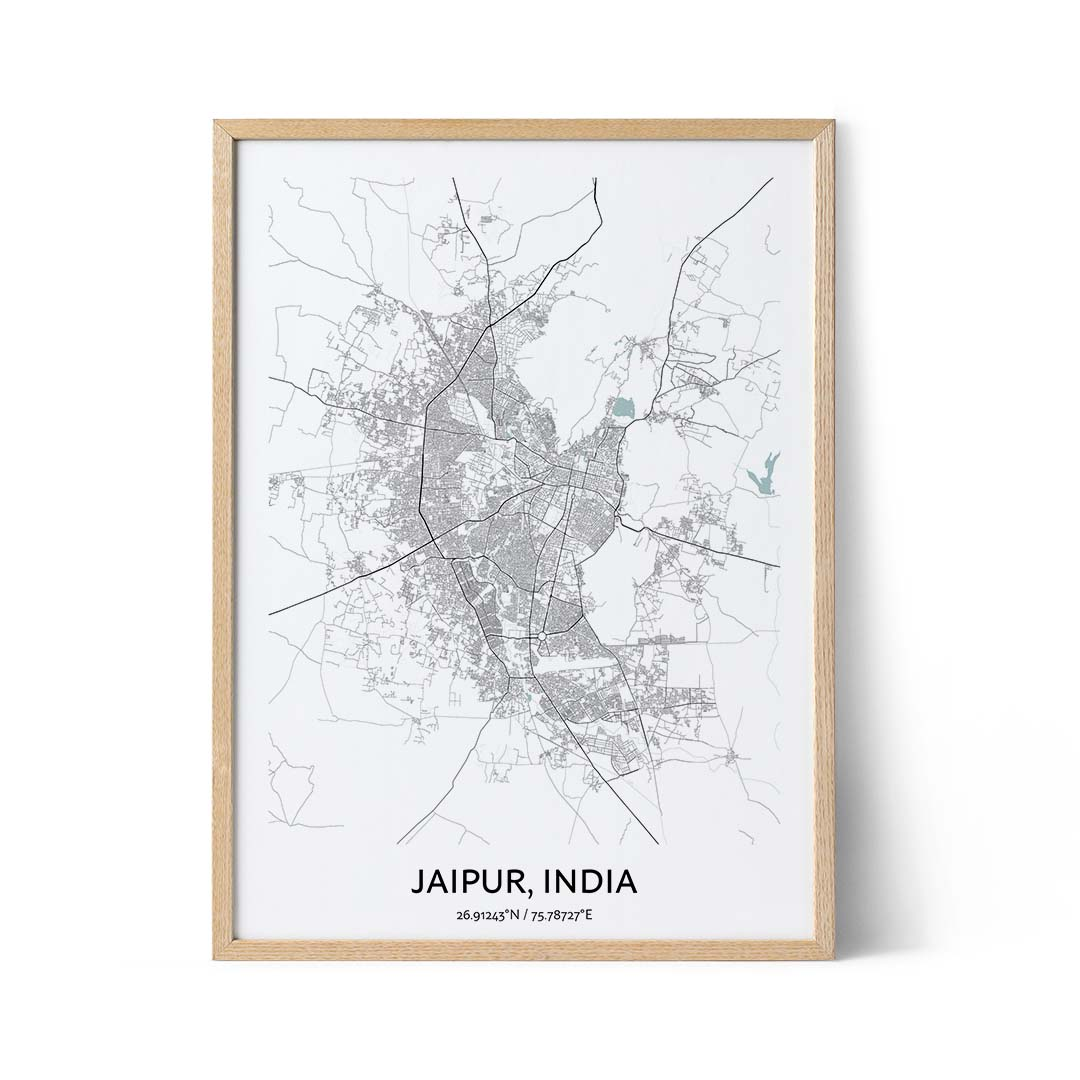 Jaipur city map poster