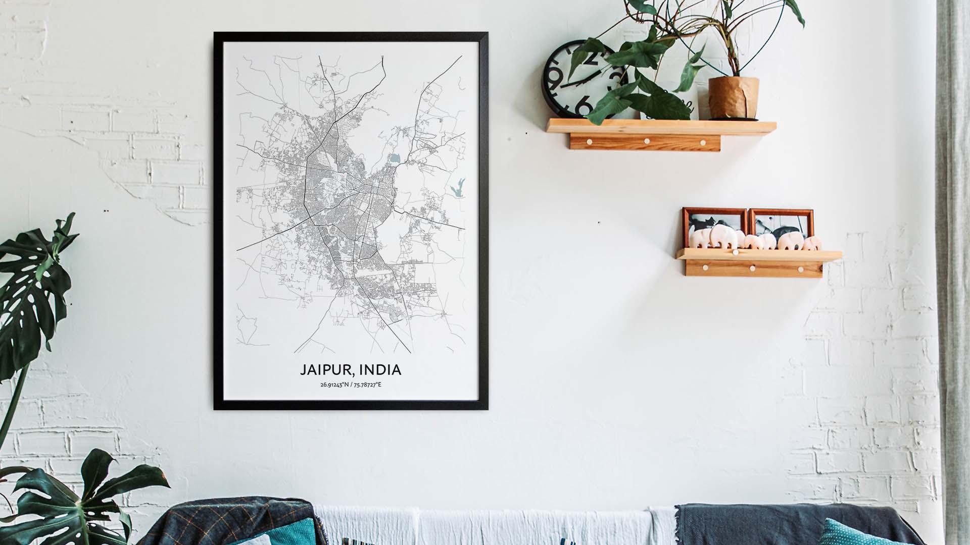 Jaipur map art