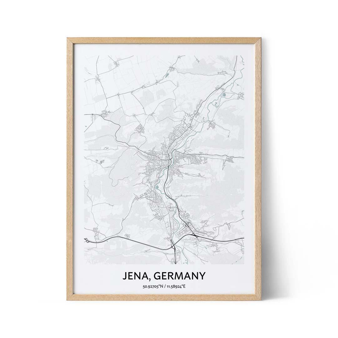 Jena city map poster