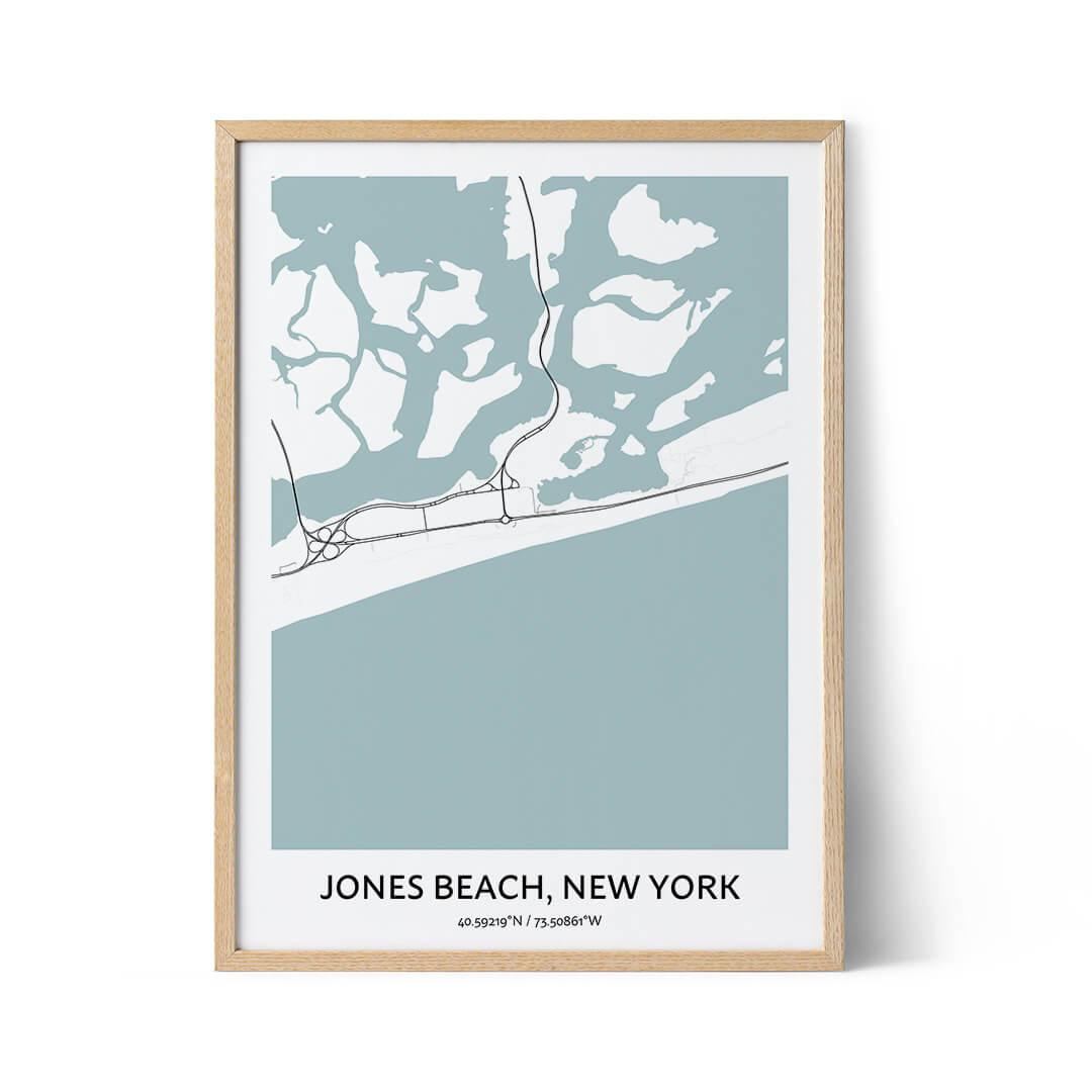 Jones Beach city map poster