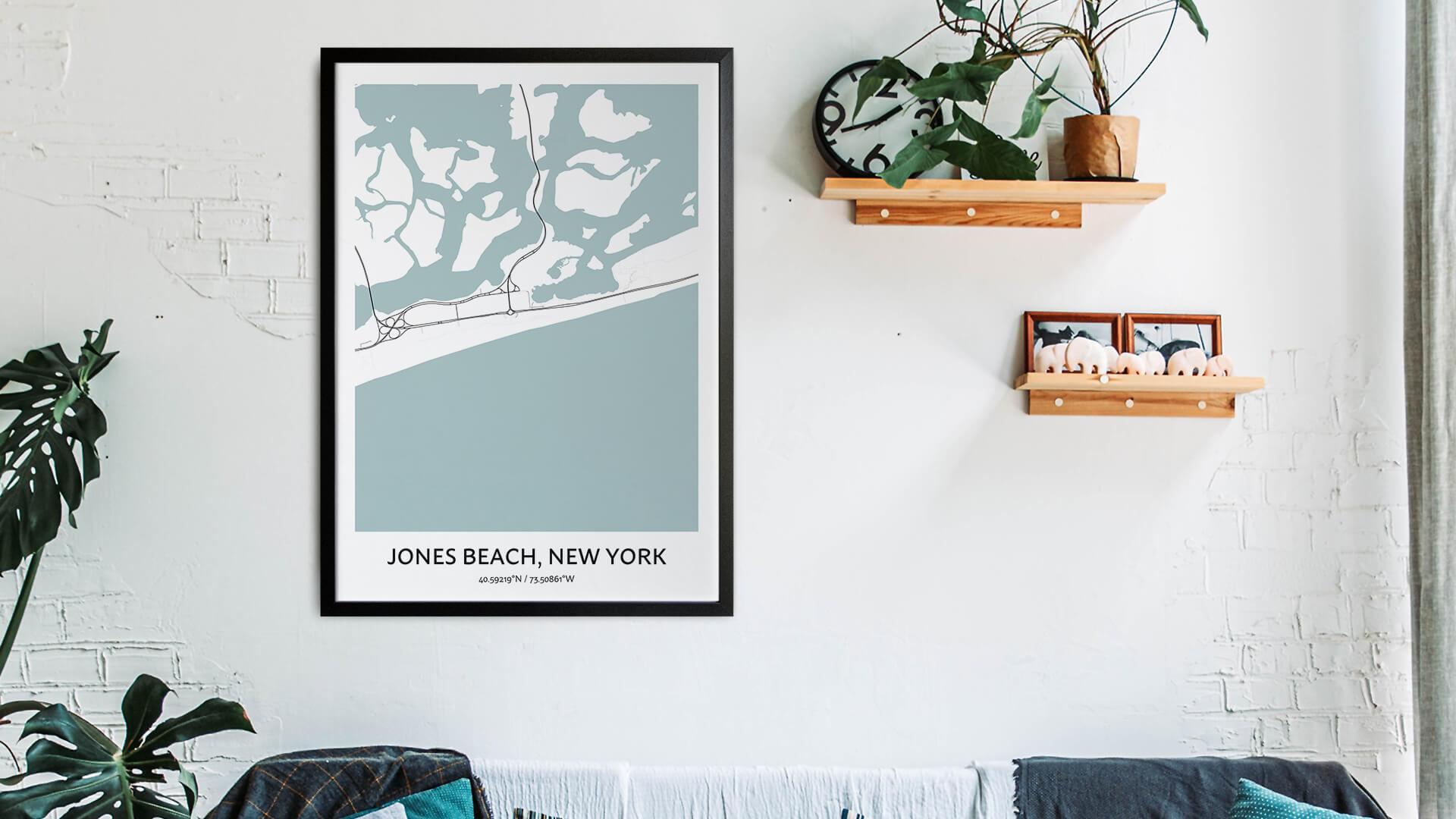 Jones Beach map art