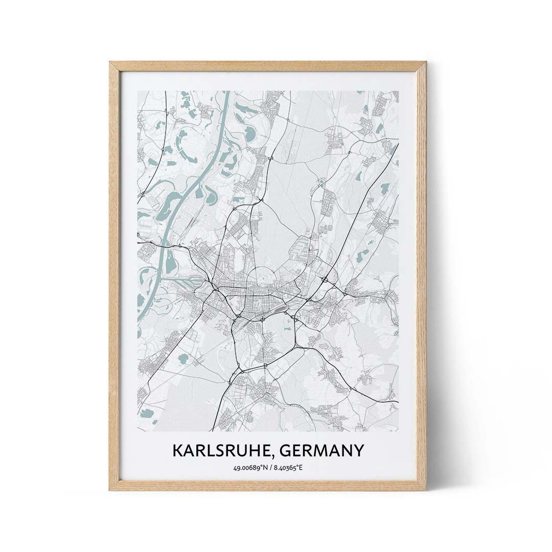 Karlsruhe city map poster