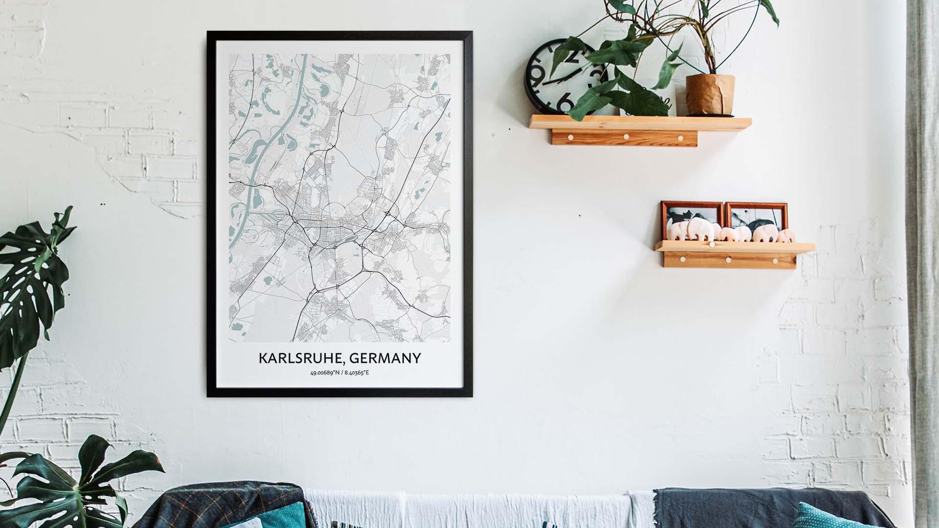 Karlsruhe map art