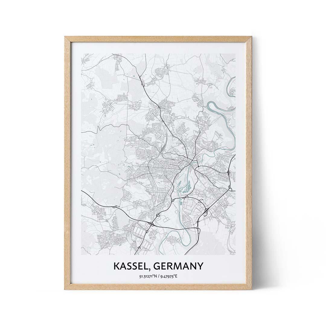 Kassel city map poster
